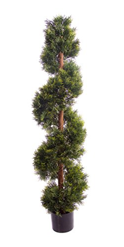 Artificielle d'aspect Naturel 1,5 m 150 cm Cèdre topiaire Spirale Arbre UV protégé