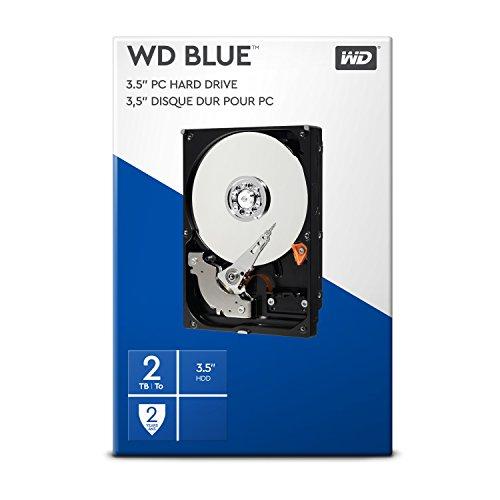 WD Blue 2 TB Interne Festplatte (8,89 cm (3,5 Zoll) 5400 U/min, SATA, 6 Gb/s, 64 MB Cache) (Retail Kit) -