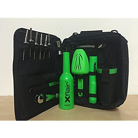 Borsa barman professionale New boston flair verde fluo muddok fluo