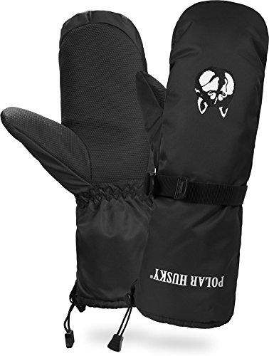 Polar Husky® Fäustling Thermo Winterhandschuhe mit Thinsulate Füllung Farbe Schwarz Größe M