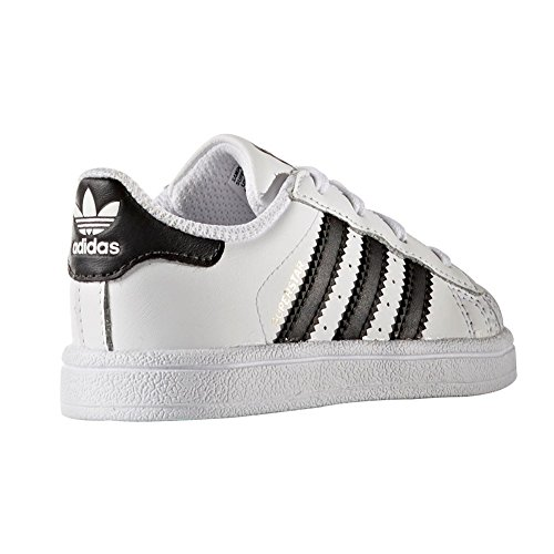 Adidas Originals Unisex Superstar Foundation J BIANCO NERO
