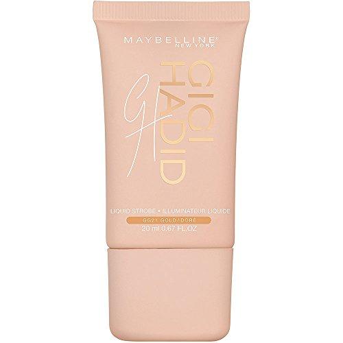 Maybelline X Gigi Hadid Iluminador Líquido West Coast Glow Edición Limitada, Tono GG21 Gold Warm
