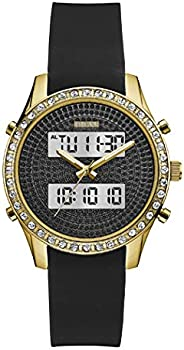 Guess Dress Watch for Women, Silicone, Analog-Digital - W0818L2