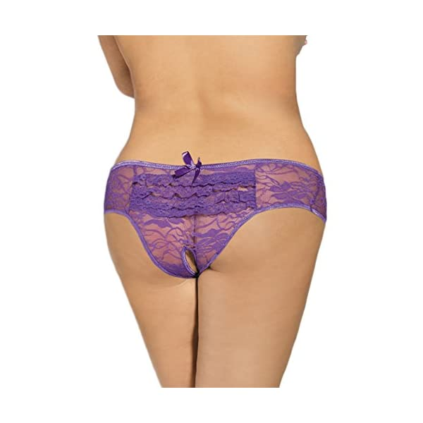 ohyeahlady Womens Underwear Panty V String Sheer Lace Thongs Tangas