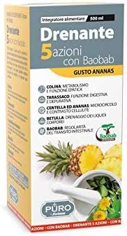 Forhans, PURO Drenante 5 Azioni con Baobab, Formula Naturale, per un Migliore Metabolismo, Digestione, Depurat