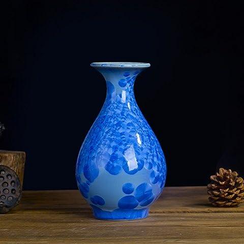 DSN2-smalto ceramico vasi di fiore cristallizzazione manualmente i plug-in home soggiorno con decorazioni dono , Topazio Azzurro Yuk-maker molla