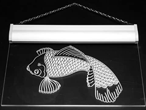 Multi Color s015-c Koi Japanese Fish Tattoo Logo Neon LED Sign with Remote Control, 20 Colors, 19 Dynamic Modes, Speed & Brightness Adjustable, Demo Mode, Auto Save Function