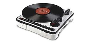 Ion IPTUBS Platine disque vinyle USB Portable , haut-parleur intégré, alimentation piles ou secteur