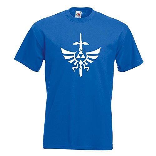 KIWISTAR - Triforce - The Legend of T-Shirt in 15 verschiedenen Farben - Herren Funshirt bedruckt Design Sprüche Spruch Motive Oberteil Baumwolle Print Größe S M L XL XXL Royal