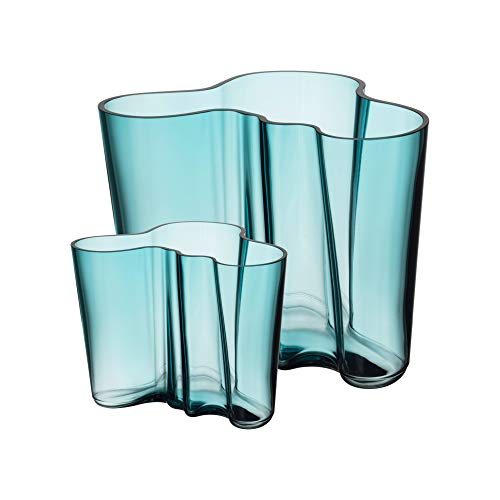 Iittala Vasen (Iittala - Alvar Aalto Collection Vasenset - 160 mm + 95 mm - sea Blue)