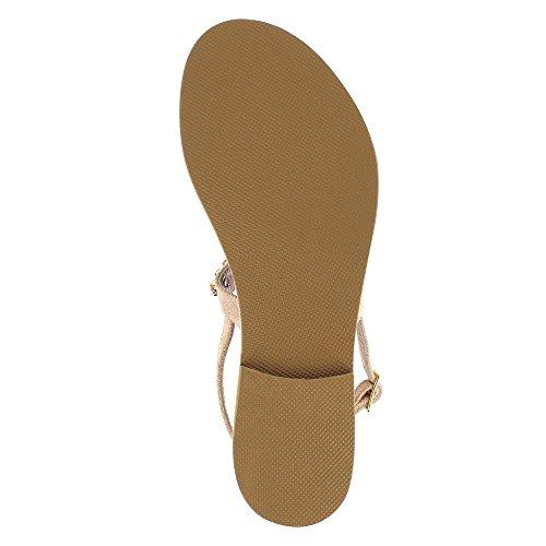 GRETA Damen Sandale Rauleder Altrosa