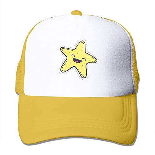 Quakess Glückliche Strlfish Erwachsenen-Baseball-Kappe justierbare Baseballmütze für Männer Frauen, Gelb, OneSize