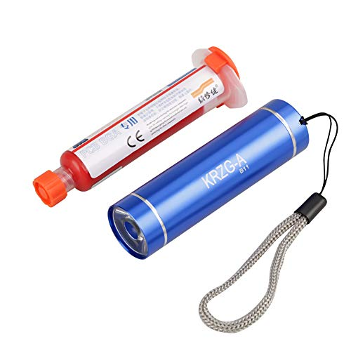 UV-härtendes Lötflussmittel-Lötmittel-Paste-Reparatur-Werkzeug mit einem Licht für Reparaturcomputer oder Mobiltelefon PCB PCB BGA