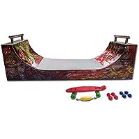 Grip & Tricks - Rampas para Finger Toy - HALFPIPE - Fingerboard - Cruiser Board : Dimensions: 28 X 12 X 10 cm de E.M.D
