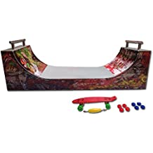 Grip & Tricks - Rampas para Finger Toy - HALFPIPE - Fingerboard - Cruiser Board : Dimensions: 28 X 12 X 10 cm