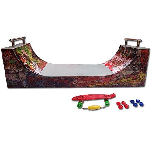 grip tricks rampes de finger skate halfpipe fingerboard cruiser board dimensions 28. Black Bedroom Furniture Sets. Home Design Ideas