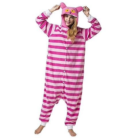 Katara 1744 -Grinsekatze Kostüm-Anzug Onesie/Jumpsuit Einteiler Body für Erwachsene Damen Herren als Pyjama oder Schlafanzug Unisex - viele verschiedene (Einfache Katze-kostüme Für Frauen)