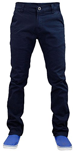 Pantalones de Chino para Hombre con diseño de Jack South Stretch Slim Fit Azul Azul Marino 48 Largo