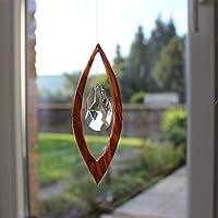 Fenster Deko zum Aufhängen   Segel aus Holz   Regenbogenkristall   Sonnenfänger   Fensterdeko