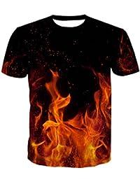 2018 Été Hommes Et Femmes Amants Hip-hop Lâche Grande Taille Style de Rue Chemisier Modèle de Flamme Manches Courtes T-Shirt