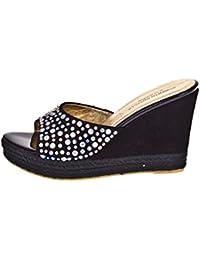 ROBERTO BOTELLA - <p>Zapato de cuña estilo alpargata</p> - Color Negro - Talla 40