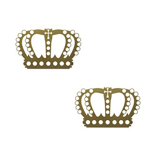 2 Stück Krone 12cm König Königin Aufkleber Tattoo die cut Deko Folie Wandtattoo (Kronen Für Die Könige)