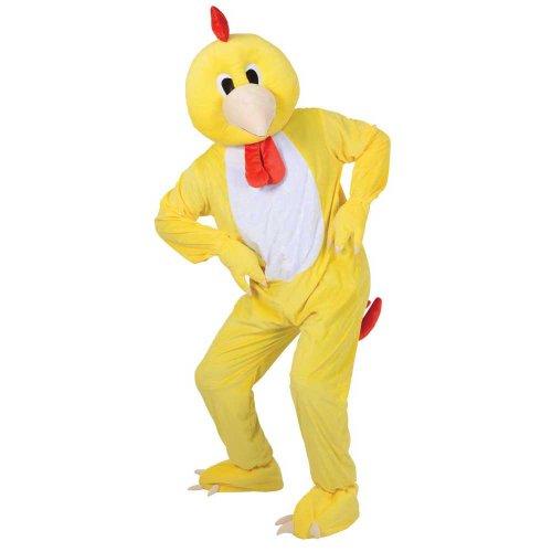 Adult Deluxe Big Head Mascots (Chicken ()