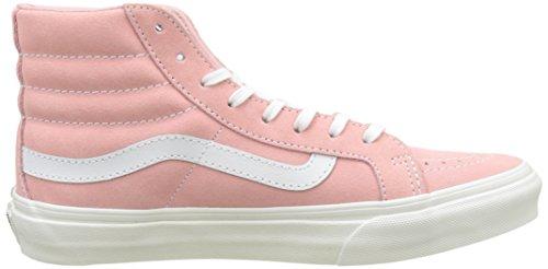 Vans Women's Sk8-hi Slim Trainers, Pink ((Retro Sport) Blossomtrue White), 6 Uk 39 Eu