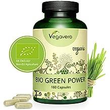Green Power Mix BIO Vegavero® | Hierba de Trigo + Hierba de Cebada | Rico