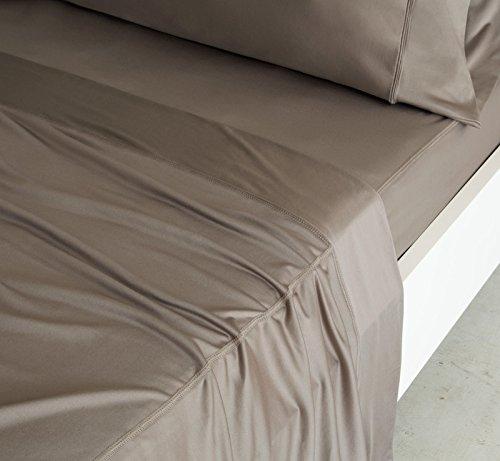 Land Twin-size-bett (Sheex - Kupfer-Betttuch-Set mit 2 Kissenbezügen, ultraweich, atmungsaktiv, PRO+Ionic Kupferstoff für einen kühlen, trockenen und angenehmen Schlaf. Twin Taupe)