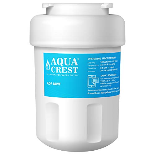 AQUACREST MWF Kühlschrank Wasserfilter, kompatibel mit General Electric GE SmartWater MWF MWFA MWFP GWF GWFA GWF01 101057A 101300A, Sears / Kenmore 9991 46-9991 469991 9996 9905 - Sears Kenmore