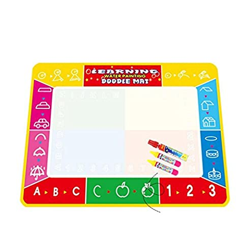 Transer® Toys for Kids - 4 Colors Doodle Water Drawing Mat Board & Magic Pen - Baby Painting Toy Gift New (100*73cm,