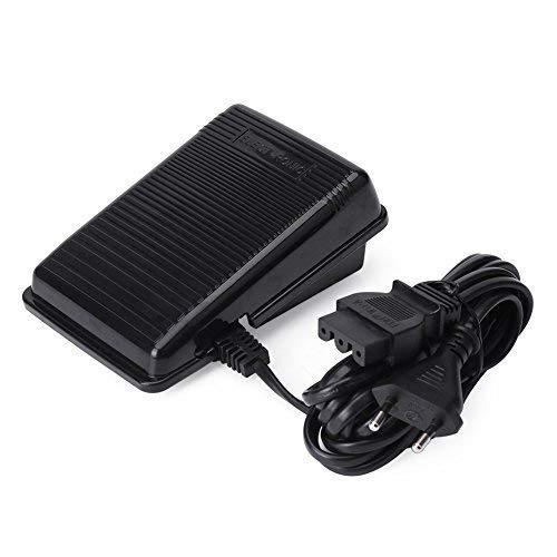 Akozon Nähmaschine Fußsteuerung Pedal Speed Controller Pedal Nähmaschine Teile für Sänger Elektronische Fußsteuerung Universal Home Nähmaschine Fußschalter Pedal Variable mit Netzkabel (EU-Stecker) -