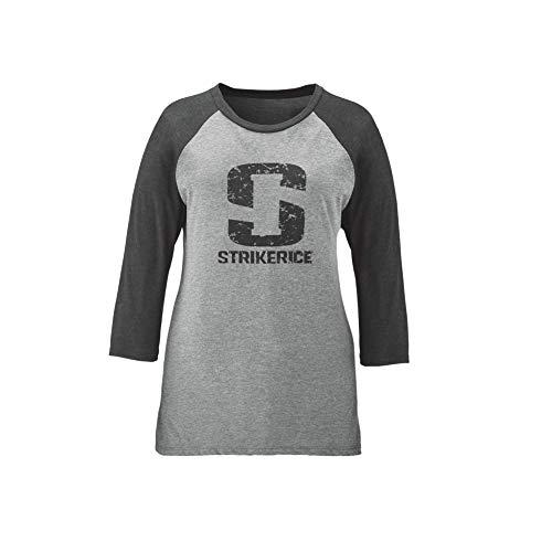 Striker Ice Damen Hemd, 3/4-Ärmel, Damen, schwarz/grau, Large -