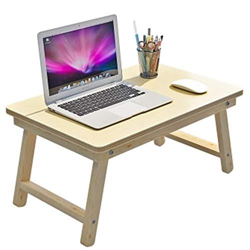 JPVGIA Faltbarer Bett-Laptop-Schreibtisch, tragbarer einfacher Computer-Tabellen-Schlafsaal-Studien-Tabellen-Frühstücks-Behälter für Sofa-Multifunktionsfestholz-kleine Tabelle Camping-Tabelle im Freie -