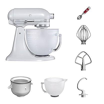 KitchenAid-Kchenmaschine-VORTEILS-SET-Artisan-5KSM156EFP-Eiscreme-Paket-inklusive-Speiseeismaschine-und-Eisportionierer-fr-hausgemachte-Dessert-Kreationen-Frosted-Pearl