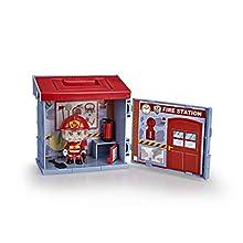 Pinypon Action - Mixópolis Stazione dei Pompieri con Figura Pompiere, 700015585