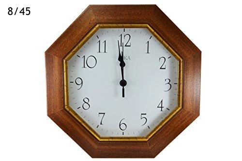 Orologio da parete in legno massello noce made in italy