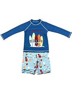 Gogokids Niños Dos Piezas Traje de Baño - Bebé Bañador Manga Larga Ropa de Natación Nadar Camiseta y Pantalones...
