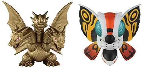 Godzilla 97922 Mothra 92 y King Ghidora 91 Figura Chibi de 5 cm, 2 Unidades