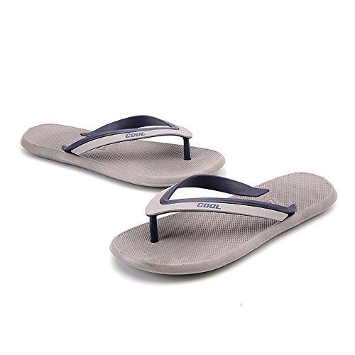 SITAILE Herren Sommer Flip Flops Zehentrenner Sandalen Badeschuhe Strandschuhe Outdoor Freizeit Grau