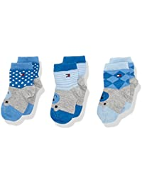 Tommy Hilfiger TH BABY WHERE IS THE BEAR GIFTBOX 3P-Calcetines Bebé niños