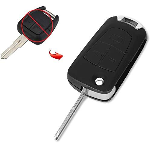 OPELMS02A Umbaukit UMBAU Ersatz Schlüsselgehäuse 3 Tasten Autoschlüssel Klappschlüssel Schlüssel Chiavi Rohling HU46 Fernbedienung Funkschlüssel Gehäuse ohne Transponder oder Elektronik. INION