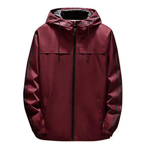 Innerternet giacca a vento uomo, giacca softshell uomo giacca impermeabile outdoor giacca da uomo con cappello giacca leggera per moto,running,alpinista,escursioni,campeggio,trekking