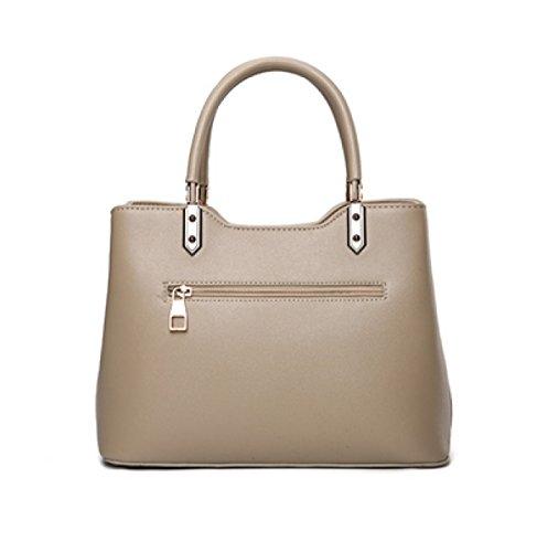 LAIDAYE Frauen-Handtaschen-Frauen-Beutel-Schulter-Beutel-Reißverschluss-Verschluss-Tote-Weinlese-Beutel PU-Leder 4
