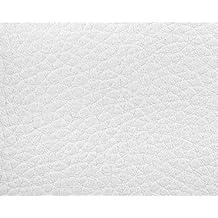 1 METRO de Polipiel para tapizar, manualidades, cojines o forrar objetos. Venta de polipiel por metros. Diseño Luna Color Blanco ancho 140cm