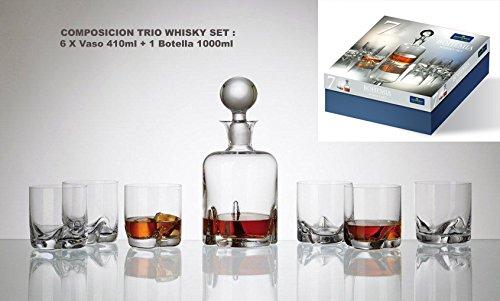 Bohemia Whisky Trio C/Flasche 7p. - Flasche Whiskey Kostüm
