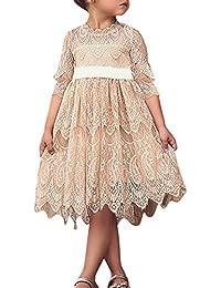 734438475a025 De feuilles Robe Bébé Fille Manches Longues Tutu Dress Col Rond Doux Motif  imprimé Doux Mignon