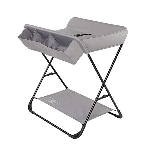 Tables à langer Table à langer pliante pour petits espaces, Toddler Infant Portable Station de couche-culotte Pépinière Style croisé, gris