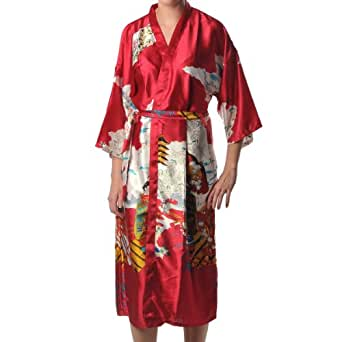 Geisha Kimono Peignoir Robe de Chambre Yukata Japonais
